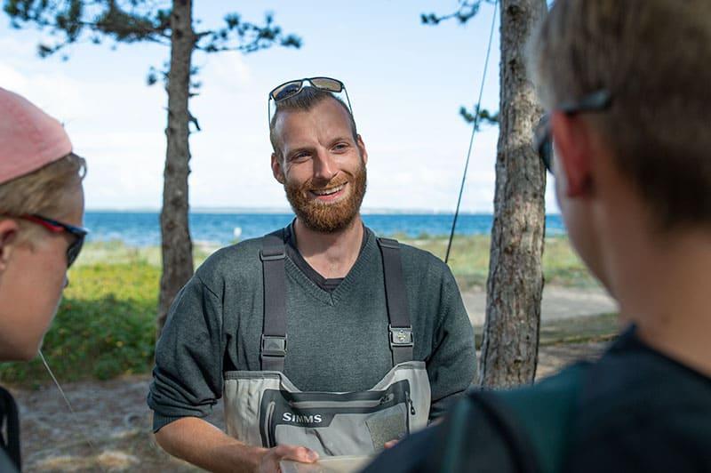 Lærer på Helgenæs Naturefterskole Tim Masermann